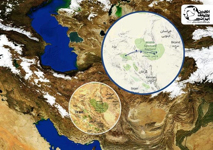 موقعیت مناطق مورد مطالعه در ایران